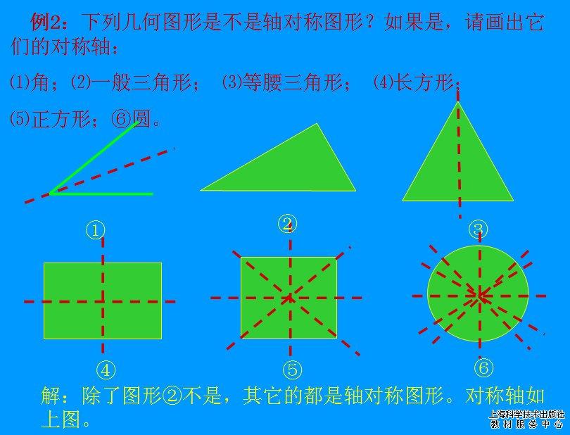轴对称图形_上海科学技术出版社教材服务中心